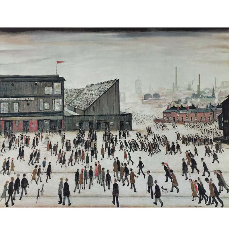 "LAURENCE STEPHEN LOWRY (1887-1976); a signed limited edition coloured print ""Going to the Match""."