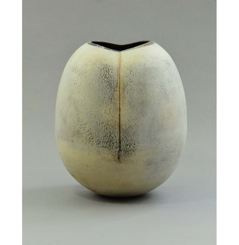 HANS COPER (1920-1981); a large stoneware lobed ovoid form.